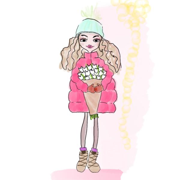 Illustration Tulpenmädchen