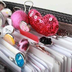 pink pailletten herz clip