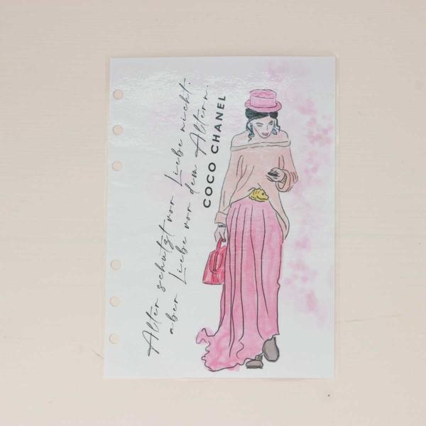 Dashboard Personal Wide Frau mit Hut