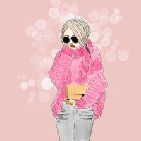 modezeichnung Petra Radenkovic frau mit zopfpulli