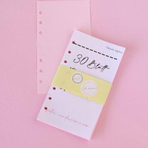 Personal- Rosa Papier 30 Blatt unliniert