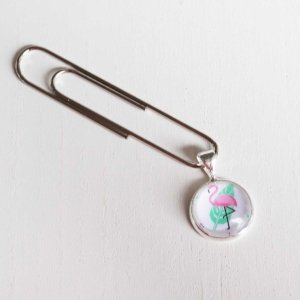 planer clip cabochon 12mm flamingo