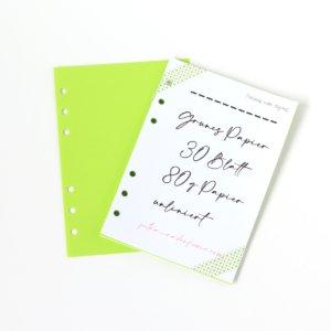 Personal Wide- 30 Blatt grünes Papier 80g blanco