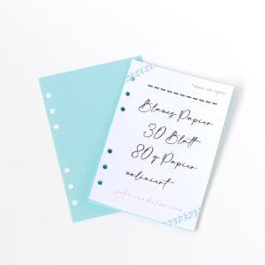 Personal Wide- 30 Blatt blaues Papier 80g blanco