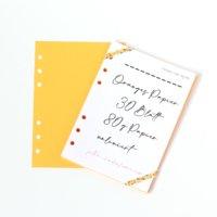 Personal Wide- 30 Blatt orange Papier 80g blanco