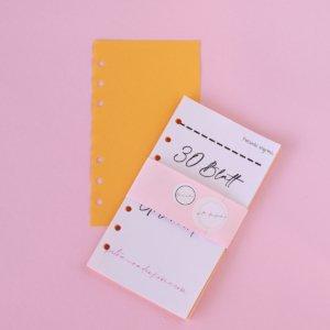 planer einlagen farbiges papier orange